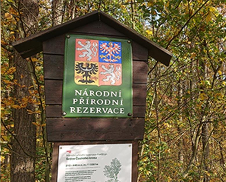 Označení národní přírodní rezervace