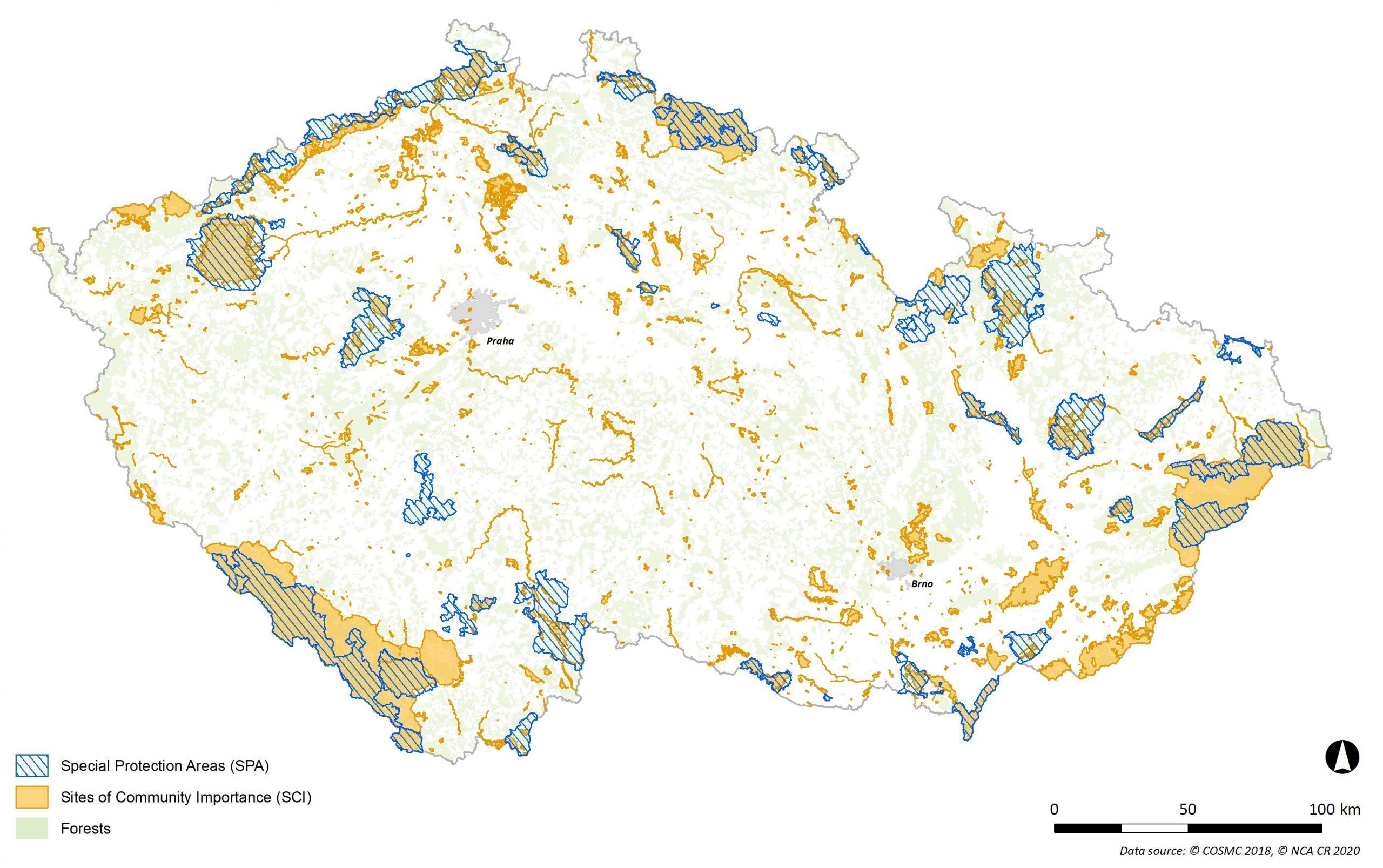 Natura 2000 sites in the Czech Republic