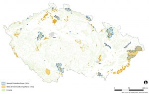 Natura 2000 sites in the Czech Republic administrated by NCA