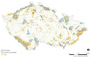 Všechna území soustavy Natura 2000 v České republice