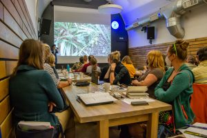 Marie Straková z Agrostis Trávníky, s. r. o., Seminář Ekologická obnova travních porostù, 22. září 2020, foto: Barbora Čepelová