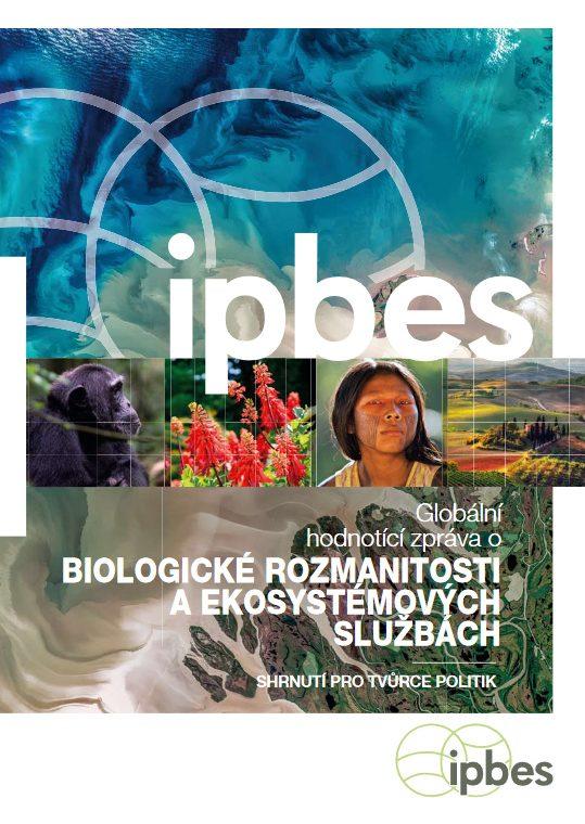 Titulní strana českého překladu závěrů Globalní hodnotící zprávy o biologické rozmanitosti (IPBES a MŽP)