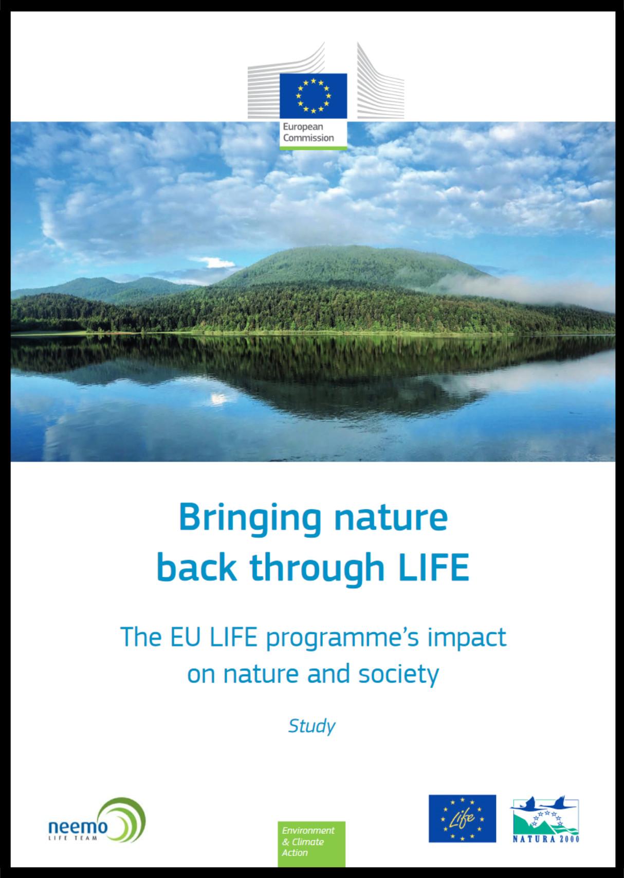 Obálka publikované studie Bringing nature back through LIFE