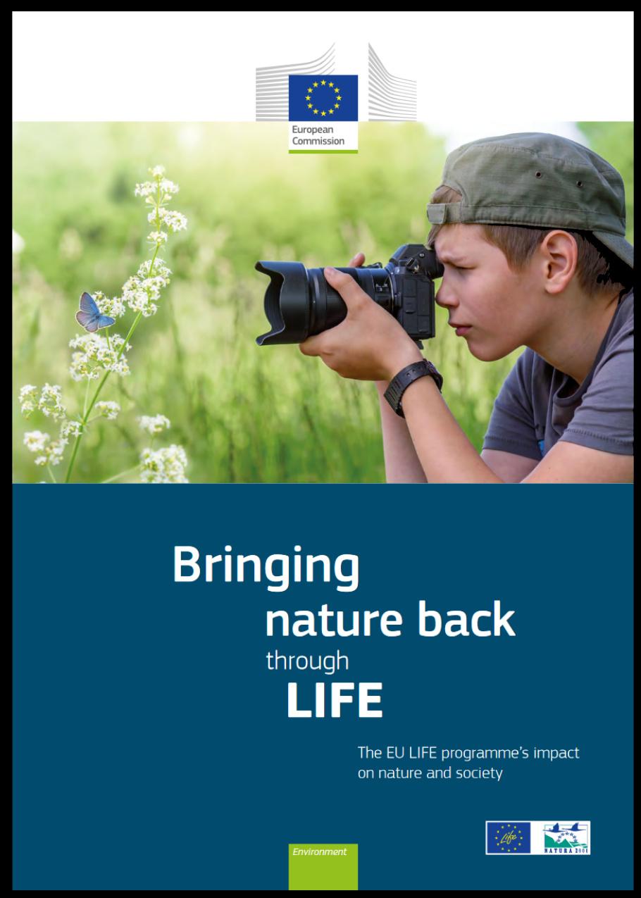Obálka brožury Bringing nature back through LIFE