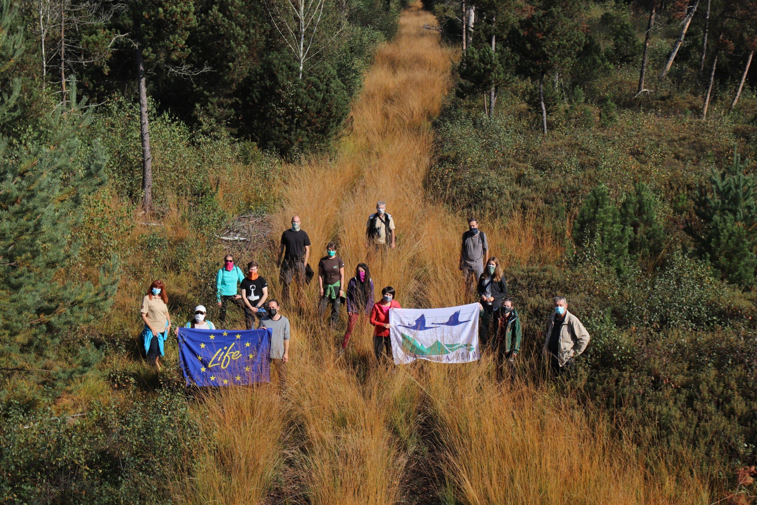 Setkání zástupců čtyř českých projektů LIFE v evropsky významné lokalitě Borkovická Blata. Foto: Ondřej Nitsch