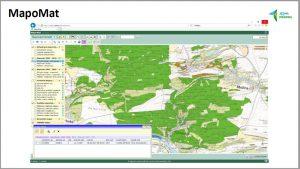 Ukázka možného využití získaných dat v aplikaci MapoMat, z prezentace o aktuálních tématech, část prezentovaná Karlem Chobotem